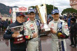 Ganadores Sébastien Ogier y Julien Ingrassia, Volkswagen Polo WRC, Volkswagen Motorsport