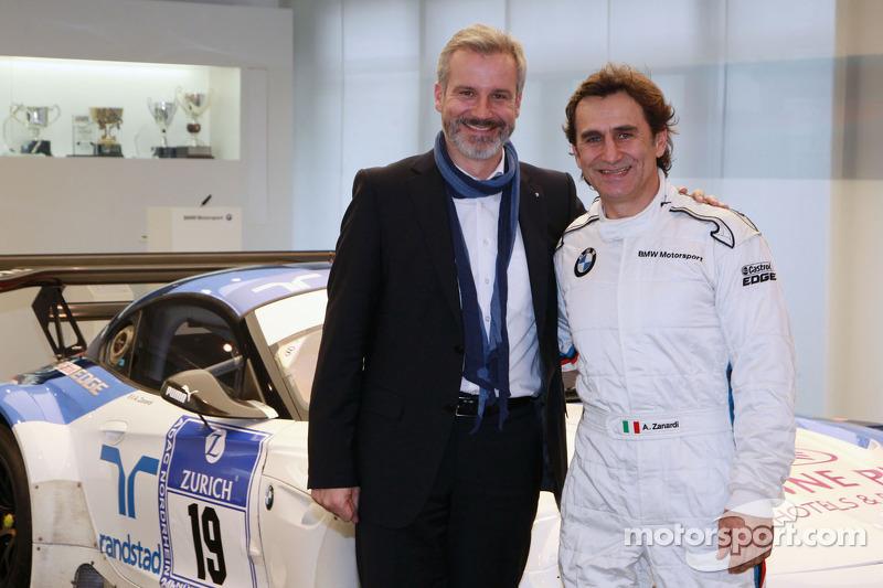 Jens Marquardt, responsabile di BMW Motorsport e Alex Zanardi annuncia il suo ritorno alle gare con la BMW