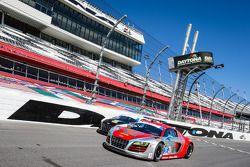 #48 Paul Miller Racing Audi R8 LMS ; #35 Flying Lizard Motorsports Audi R8 LMS