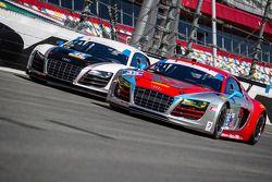 #48 Paul Miller Racing Audi R8 LMS e #35 Flying Lizard Motorsports Audi R8 LMS