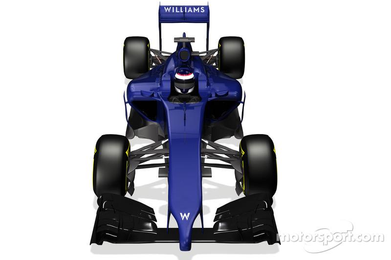 Representación de la computadora del nuevo Williams F1 FW36