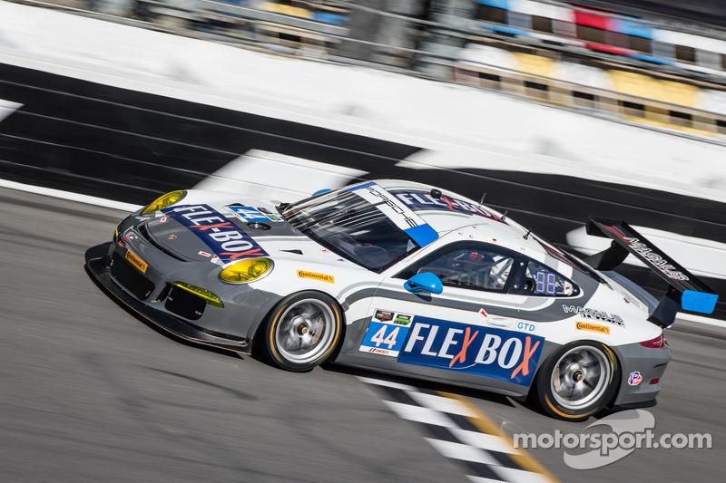 #44 Magnus Racing 保时捷 911 GT America 保时捷: 约翰·波特, 安迪·拉利, 沃尔夫·亨泽尔, 让-弗朗索瓦·迪穆兰