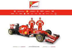The Ferrari F14 T with drivers Fernando Alonso and Kimi Raikkonen