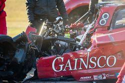 GAINSCO / Bob Stallings车队的99号雪佛兰克尔维特DP赛车遭受了严重损坏
