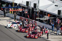 #70 SpeedSource Mazda Mazda: Sylvain Tremblay, Tom Long, James Hinchcliffe, #07 SpeedSource Mazda Ma
