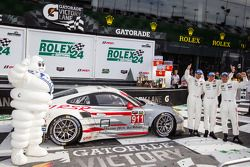 GTLM victory lane: Nick Tandy, Richard Lietz, Patrick Pilet