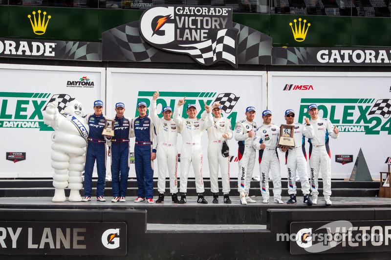 GTLM podio: vincitori di classe Nick Tandy, Richard Lietz, Patrick Pilet, il secondo posto Bill Aube