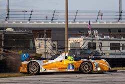 Tête à queue - #8 Starworks Motorsport ORECA FLM09 Chevrolet: Mirco Schultis, Renger van der Zande,