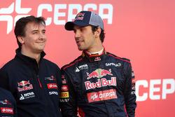 James key, Technischer Direktor, mit Jean-Eric Vergne, Scuderia Toro Rosso