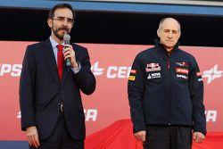 Franz Tost lors de la présentation de la Toro Rosso STR9