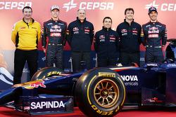 Rob White, Renault; Daniil Kvyat, Scuderia Toro Rosso; Franz Tost, Teamchef; Luca Furbatto, Chefdes