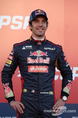 Jean-Eric Vergne, Scuderia Toro Rosso at the unveiling of the Scuderia Toro Rosso STR9