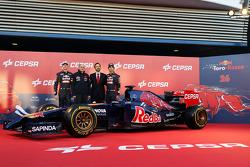 Daniil Kvyat, Scuderia Toro Rosso; Franz Tost; Jean-Eric Vergne, Scuderia Toro Rosso
