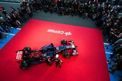 Daniil Kvyat, Scuderia Toro Rosso and Jean-Eric Vergne, Scuderia Toro Rosso at the unveiling of the Scuderia Toro Rosso STR9