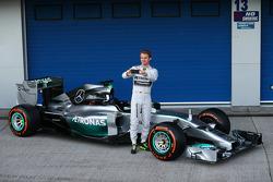 Nico Rosberg avec la Mercedes W05