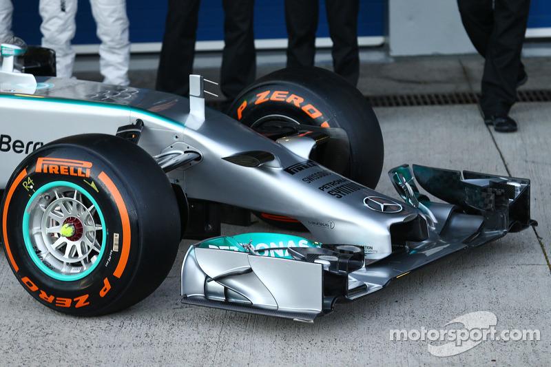 Il musetto della Mercedes AMG F1 W05