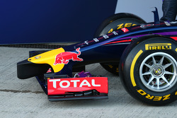 The nose of the Red Bull Racing RB10