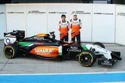 Nico Hulkenberg e Sergio Perez presentano la Sahara Force India F1 VJM07