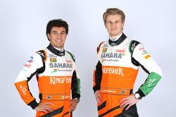 Nico Hulkenberg en Sergio Perez, Sahara Force India F1