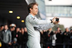 Nico Rosberg lors de la présentation de la Mercedes W05