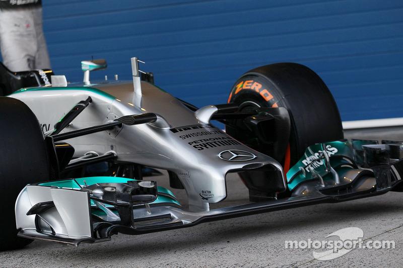 Présentation Mercedes AMG F1 W05 - aileron avant