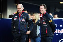 (L to R): Adrian Newey, Red Bull Racing Chief Technical Officer and Christian Horner, Red Bull Racin