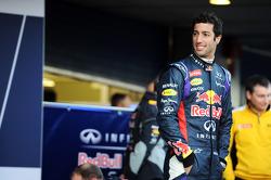 Daniel Ricciardo lors de la présentation de la Red Bull RB10