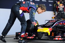 Sebastian Vettel, Red Bull Racing at the unveiling of the Red Bull Racing RB10