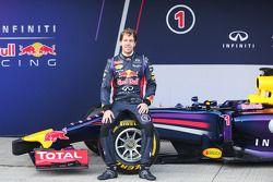 Sebastian Vettel, Red Bull Racing en la presentación del nuevo Red Bull Racing RB10