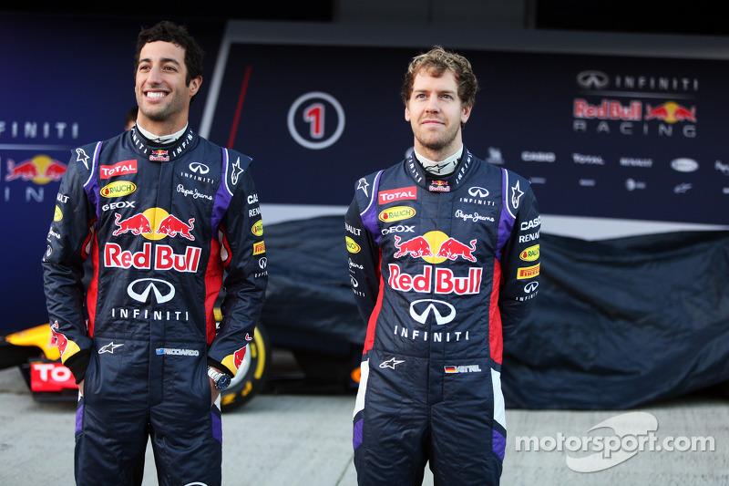 Em 2014, Webber se aposentou e foi substituído por Ricciardo na Red Bull.