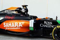 Sahara Force India F1 VJM07 launch - sidepod detail