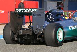 Lewis Hamilton, Mercedes AMG F1 W05 detalle de difusor