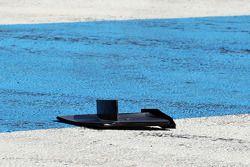 Restos de la Mercedes AMG F1 W05 de Lewis Hamilton, Mercedes AMG F1 después de él se estrelló en la