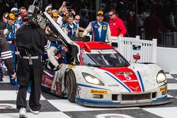 Vainqueurs: #5 Action Express Racing Corvette DP Chevrolet: Joao Barbosa, Christian Fittipaldi, Séba