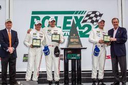 GTLM victory lane: Nick Tandy, Richard Lietz, Patrick Pilet