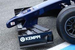 Williams FW36 asa dianteira e bico detalhe