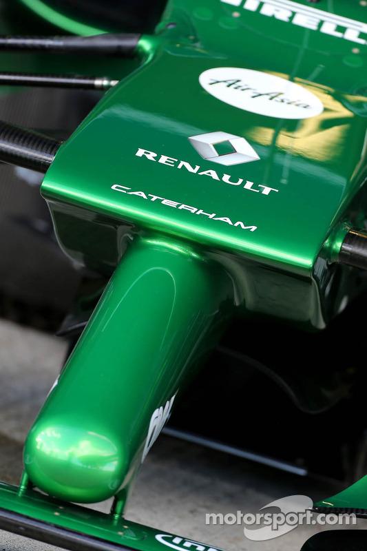 Caterham F1 Team: bico dianteiro