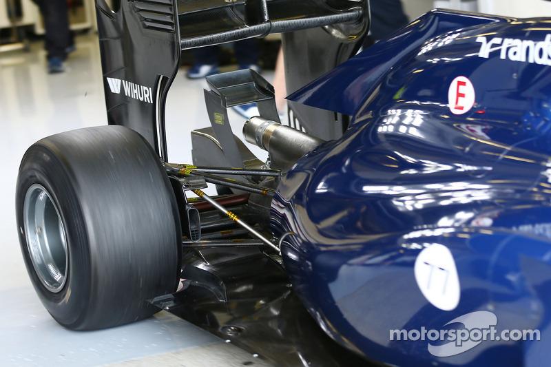 Valtteri Bottas, Williams FW36 arka süspansiyon detayı