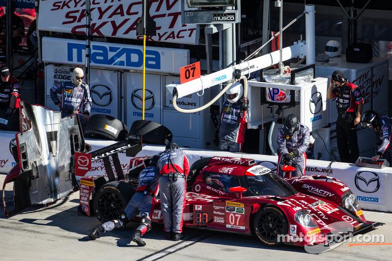#07 SpeedSource Mazda Mazda: Tristan Nunez, Joel Miller, Tristan Vautier nos boxes