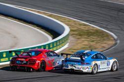 #18 Muehlner Motorsports America 保时捷 911 GT America: 埃尔·班博, 欧亨尼奥·阿莫斯, 布拉德利·布鲁姆, 亚历山大·因佩拉托里, 罗纳德·兹察, #45 Flying Lizard Motorsports 奥迪 R8 LMS: 尼尔森·卡纳切, 斯潘瑟·庞佩利, 蒂姆·帕帕斯, 马库斯·温克霍克