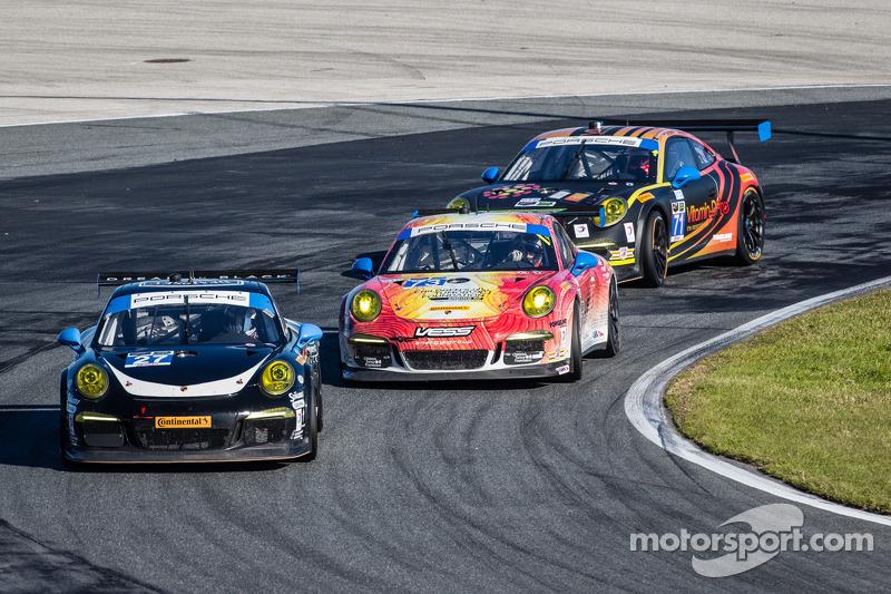 #27 Dempsey Racing Porsche 911 GT America: Patrick Dempsey, Joe Foster, Andrew Davis, Marc Lieb ; #7