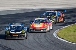 #27 邓普希 Racing 保时捷 911 GT America: 帕特里克·邓普希, 乔·福斯特, 安德鲁·戴维斯, 马克·里布, #73 Park Place Motorsports 保时捷 9