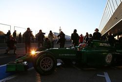 Robin Frijns, tester e pilota di riserva del Caterham F1 Team lascia la pit lane