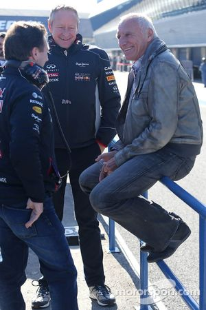 Christian Horner, Red Bull Racing, Sporting Director and Dietrich Mateschitz, Owner of Red Bull