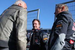 Dietrich Mateschitz, eigenaar van Red Bull en Christian Horner, Red Bull Racing, Sportief directeur