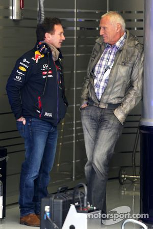 Christian Horner, Red Bull Racing, Teamchef, mit Dietrich Mateschitz, Besitzer von Red Bull