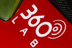 360 Lab logo on the #63 Scuderia Corsa Ferrari 458 Italia