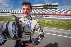 Il vincitore della gara Scott Tucker al volante della Ferrari del team Boardwalk