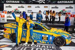GS victory lane: racewinnaars Bill Auberlen en Paul Dalla Lana vieren feest