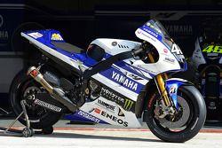 The Yamaha YZR-M1 of Valentino Rossi